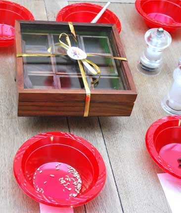 Handcrafted spice box as the star prize